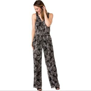Michael Kors Womens Metallic Dress Pants Jumpsuit